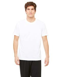 Unisex Dri-Blend Short-Sleeve T-Shirt WHITE S (Shirt Microfiber Sleeve)