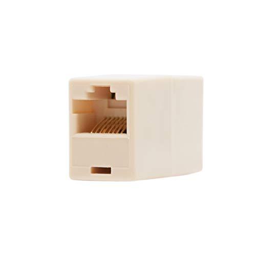 NanoCable 10.21.0401-OEM - Empalme para cable de red Ethernet RJ45, Beige, hembra-hembra, Cat.5e, UTP [España]