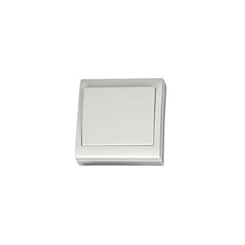 Evila - Interruptor bipolar superficie 80x80 10a blanco