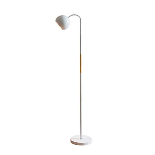 Lampe LED Stehleuchte 8 Watt No Stroboscopic Energy Saving Eye Protection Stereo Tischleuchte Nordic Simple for Schlafzimmer, Wohnzimmer, Lesen, Arbeiten zxj (Color : White)