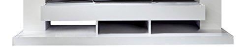 trendteam 1561-001-01 Mediawohnwand Weiß Glanz, BxHxT 164x124x46 cm - 4