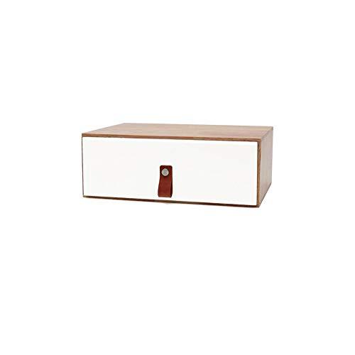 BUCHKÄSTEN Speicher Computer Monitor Stand Desktop Erhöhen Massivholz Büro Desktop Aufbewahrungsbox Desktop-Speicher Tastatur Pad High Shelf Yixin (Color : A, Size : 30 * 19.5 * 11cm) -