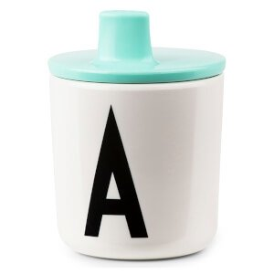 Design Letters Kids' Collection Drink Lid Turquoise - (Pack of 3) The Kids' Collection Drink Lid is a clever lid that fits perfectly onto the Design Letters melamine cups to instantly turn into a sippy cup for babies and toddlers.