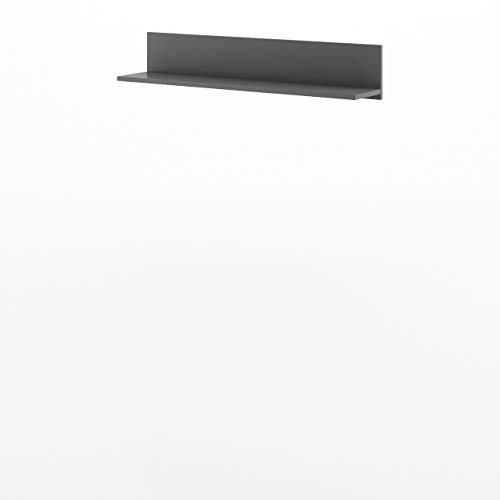 Mirjan24 Wandboard Bumerang BR17, Praktische Wandregal, Regal, Buchregal, Hängeregal, Jugendzimmer (Graphit/Grau)