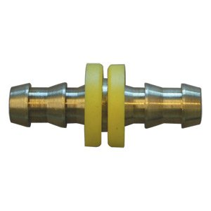 Interstate Pneumatics FL344 Easy Lock Brass Hose Fittings, Connectors, 1/4 Inch Hose Barb Splicer by Interstate Pneumatics