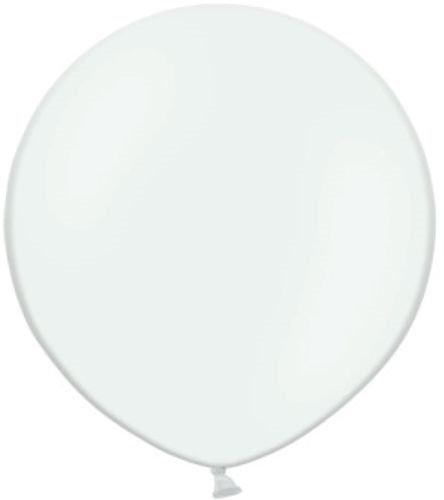 Belbal Globos redondos de látex para boda (2 unidades, 60 cm), color blanco