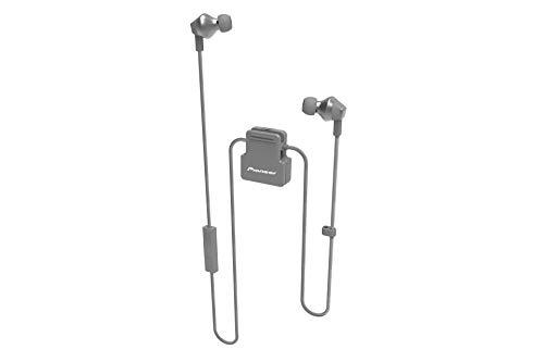 Pioneer SE-CL6BT(H) In-Ear Sport Kopfhörer mit Bluetooth (ClipWear), Musikwiedergabe bis zu 10 Stunden, IPX4 Spritzwassergeschützt, Freisprechfunktion, Inline-Fernbedienung, Grau
