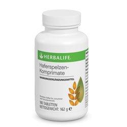 Herbalife Haferspelzkleie-Komprimate für eine effektive Ballaststoffzufuhr, 180 Presslinge