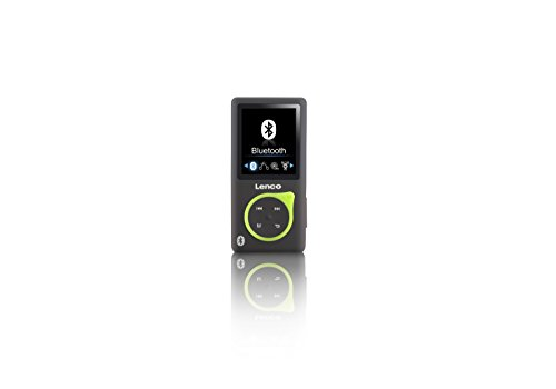 Lenco MP3-Player Xemio-768 - MP3-MP4-Player, 8 Gb Micro SD-Karte Inklusive Ohrstöpsel und Bluetooth- grün (Mp4-player Sd-karte)