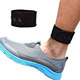 B-Great Ankle Band for Men and Women Compatible with Fitbit Zip/Fitbit Charge 2/Fitbit Blaze/Fitbit Versa/Jawbone Up Move/Moov Now/Misfit Shine Fitness Tracker (Black, Medium)