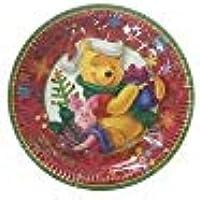 RIETHMULLER Plato navideño Winnie The Pooh Ø de 10Unidades