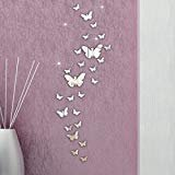 Oyedens 30pc 3D Schmetterling Spiegel Wandaufkleber Dekoration