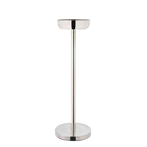 Ständer für Weinkühler oder Sektkühler ca. 73 cm hoch - Edelstahl Flaschenkühlerständer standsicherer Fuß Ø ca. 20 cm für Champagnerkühler Ø bis 18 cm