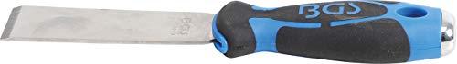 BGS 3063 | Schaber | rostfrei | schwerer 2-Komponenten-Gummigriff mit Loch | Klebegewicht-Entferner | Schaber zur Entfernung von Klebeelementen