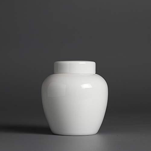 GBCJ Cloud Art Trompete Keramik Teekanne, Grüntee-Pudertopf, Beschriftung, Reisende Teebox, versiegelter Kleiner Topf, Mini-WC, Kanister