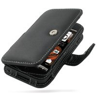 PDair Handarbeit Leder Book Hülle for HTC Droid Incredible ADR6300 (Black)