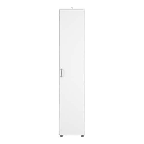 Demeyere Cobi Mehrzweckschrank 1-Türig 3 Einlegeboden, Spanplatte, Weiß,, 35 x 34 x 175 cm