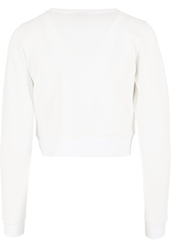 Urban classics scuba cropped crew pull-over pour femme Blanc (Offwhite)