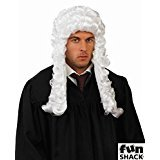 Weiße Barocke Richter Perücke Anwalt Gerichtshof Judge Adeliger