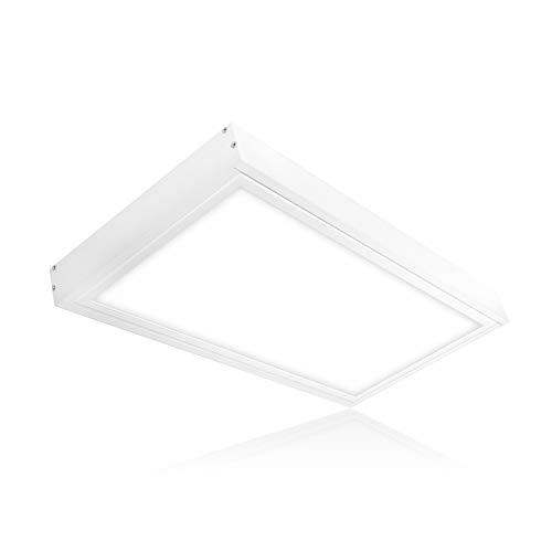 LED Panel Deckenleuchte 60x30 cm 20W LED Deckenlampe inkl. Aufbau-Rahmen Lichtfarbe umschaltbar warmweiß neutralweiß tageslichtweiß zur Deckenmontage ENEC Serie PLs2.0