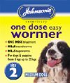 Artikelbild: Johnson's One Dose Easy Wormer for Medium Dogs Size 2
