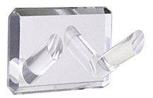 Acryl klar verspiegelt Double Bademantel Haken, CECOMINOD059963 -