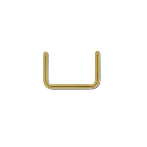 Piercing Nez Septum Retainer Acier Anodisé Doré 1,2mm