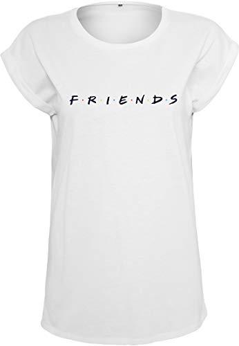 MERCHCODE Damen Friends Logo T-Shirt White M