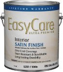 A USA Made Product EasyCare® Interior/Exterior 100% Acrylic Latex Paint, Satin Finish, White (For Light Colors), 1 Quart, Eco-Friendly Paint (White)