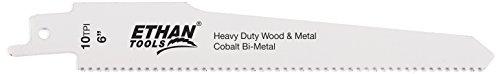 Ethan 36610–Bi-Metall DEMO Säbelsägeblatt Klinge, 6von 7/8Zoll von .062von 10TPI, 2pro Pack (Ethan Metall)