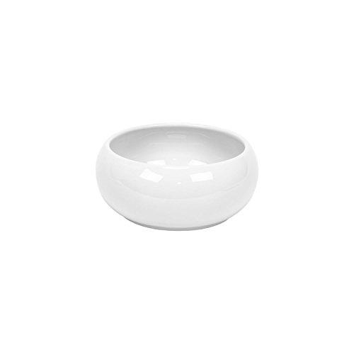 Cache pot rond Piano en ceramique, bas bol, en blanc, diam. 14 cm