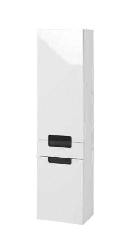Held Möbel 315.3023 Siena Seitenschrank 2-türig 1 Schubkasten, 3 Einlegeböden, 40 x 154 x 27 cm, Hochglanz-weiß / grau