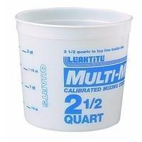 Leaktite #5M3-50 2-1/2QT Mix Container by LEAKTITE 2.5 Quart Mix