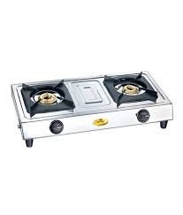 Bajaj Popular Eco Stainless Steel 2 Burner Gas Stove, Silver