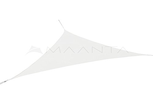 Maanta voile d'ombrage imperméable - Polyester 160gr/m2 - Triangulaire 4,0mt. - Blanc