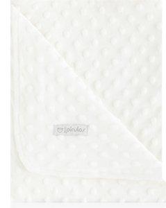 pirulos 64005102–Decke doppelseitig, 80x 110, Design Dots, Farbe Ecru