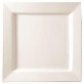 Lumina Fine China CD632Quadratischer Teller, weiß (6Stück) - Weiße China Quadratische Teller,