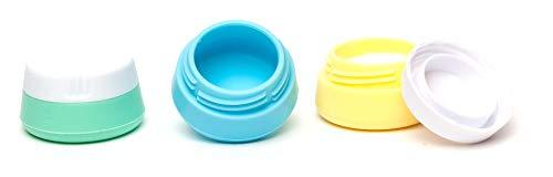 EQUIPT Silikonbehälter mit Schraubverschluss | Ideal für Creme, Tabletten, Schmuck, UVM. | Praktisch für Reisen und Zuhause | 3 x 20 ml | 3er Set
