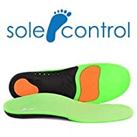 High Impact Absorption Full-Length Advanced Orthotic Arch-Support Insoles for Sports, Athletics, Leisure, Work and Play. Maximum Comfort and Shock Absorption for Injury Prevention. Sole Control Edge -