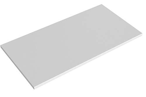 boho möbelwerkstatt DO IT Yourself Tischplatte Holzplatte Schreibtischplatte 160 x 80 x 2.5 cm in Weiß (RAL9010) mit hoher Kratzfestigkeit und 120 kg Belastbarkeit