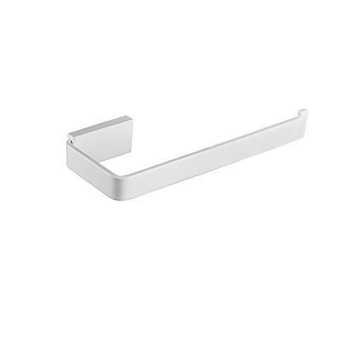 Leekayer Toilettenpapierhalter aus Edelstahl Toilettenpapierhalter 18,8 cm (7,4 Zoll) Rollenpapierhalter Wandhalterung Weißes Anstrich