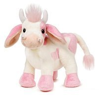 Webkinz Strawberry Cow Plush Toy with Sealed Adoption Code by Ganz (English Manual)