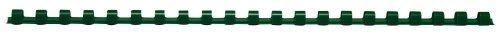 Texet 78246V Baguettes de reliure peigne plastique 30 feuilles 6 mm pour 21 anneaux Pack de 100 Vert