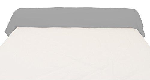 Soleil d'ocre Funda de travesaño 45x135 cm, de algodón, 57 Hilos, Gris