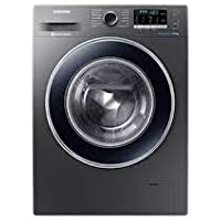 Samsung 8.0 Kg Inverter Fully-Automatic Front Loading Washing Machine (WW81J54E0BX/TL, Silver)