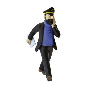 Llavero figura Tintín El capitán Haddock con diario 6,5cm Moulinsart 42499 (2012)