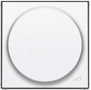Niessen 8560.2 TECLA REGULADOR Giratorio LED (Universal) BL, Blanco