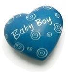 Newquay-Bonsai Baby Junge - herzförmig Stein Speckstein Geschenk Beutel Courage Stein AVN - Stein ohne Tasche