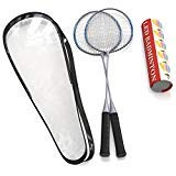 Trained Set di Qualità Premium di Racchette da Badminton, Coppia di 2 Racchette, Leggero e Robusto, con 5 LED VOLANO, per Giocatori Professionisti e Principianti, Borsa per il Trasporto Inclusa