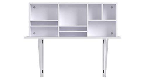 SoBuy Mesa plegable de pared con estante integrado, B90 x H36 x T60cm FWT07-W,color blanco,ES